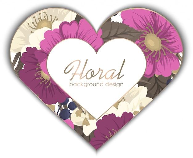 Tarjetas de visita plantilla rosa flores dibujadas a mano