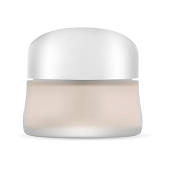 Tarro cosmético en blanco. envase del envase de crema. vector