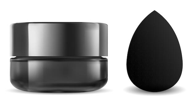 Tarro cosmético negro