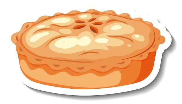 Tarta de manzana casera sobre fondo blanco.