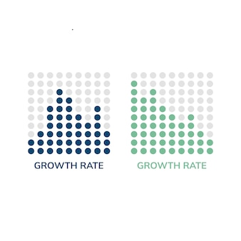 Tasa de crecimiento gráfico infográfico vector