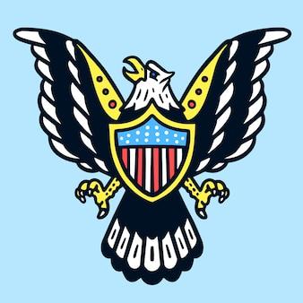Tatuaje american eagle old school