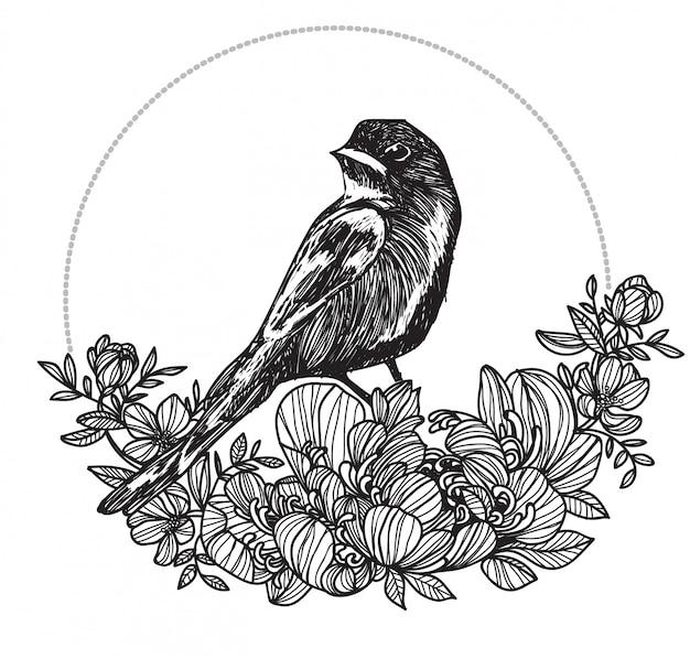 Tatuaje de ave
