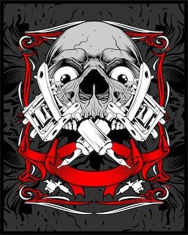Tatuaje del cráneo vector
