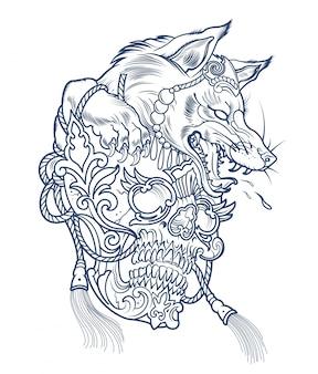 Tatuaje de lobo hombre lobo