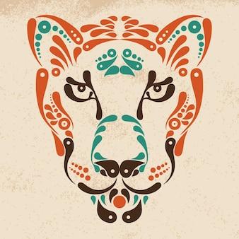 Tatuaje de pantera, ilustración de decoración de símbolo