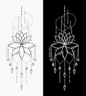 Los tatuajes geométricos de flores