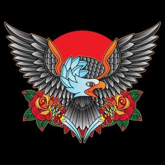 Tatuajes tradicionales de águilas
