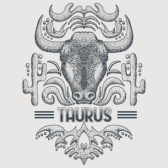 Taurus zodiac vintage