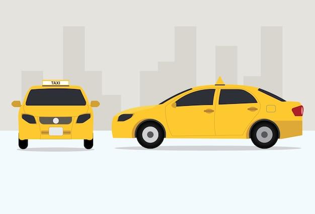 Taxi amarillo tailandia bangkok
