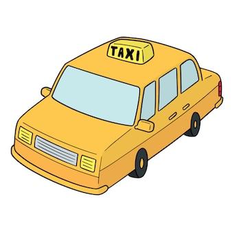 Taxi de dibujos animados