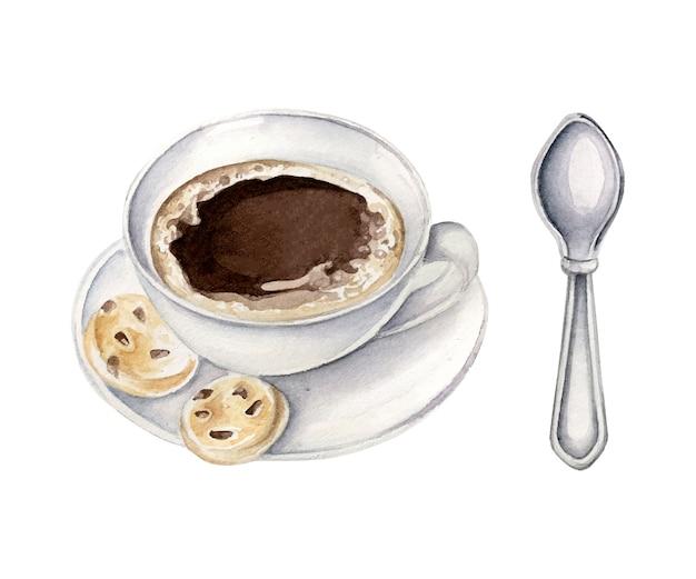 Taza de café acuarela