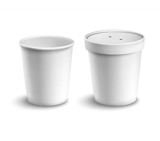Taza de café en blanco