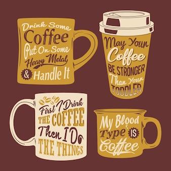 Taza de café cita diciendo