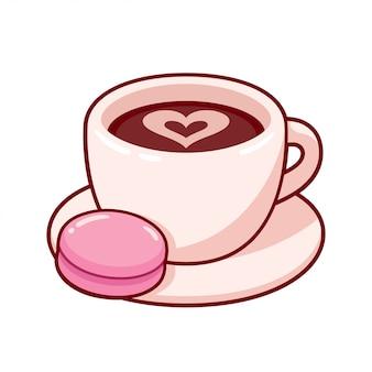 Taza de cafe con galleta