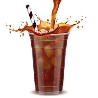 Taza de café helado para llevar