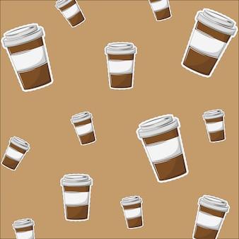 Taza de cafe para ir de fondo