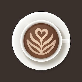 Taza de café latte art