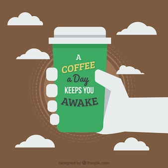 Taza de café para llevar Vector Premium