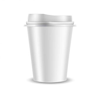 Taza de café de plástico