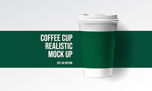 Taza de café realista mock up