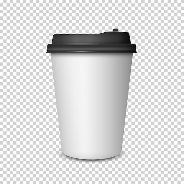 Taza de café sobre fondo transparente