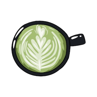 Taza de cafe verde