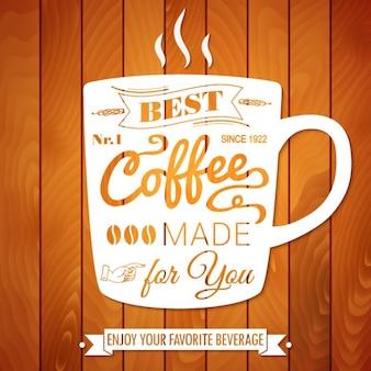 Taza de café vector de estilo vintage