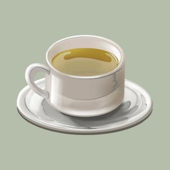 Taza de té verde japonés tradicional o matcha