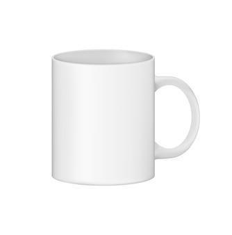 Una taza limpia está lista para su uso y para su diseño.