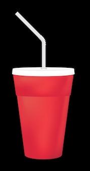 Una taza de refresco en blanco