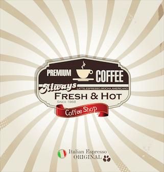 Taza retro de fondo de café