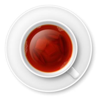 Taza de té negro