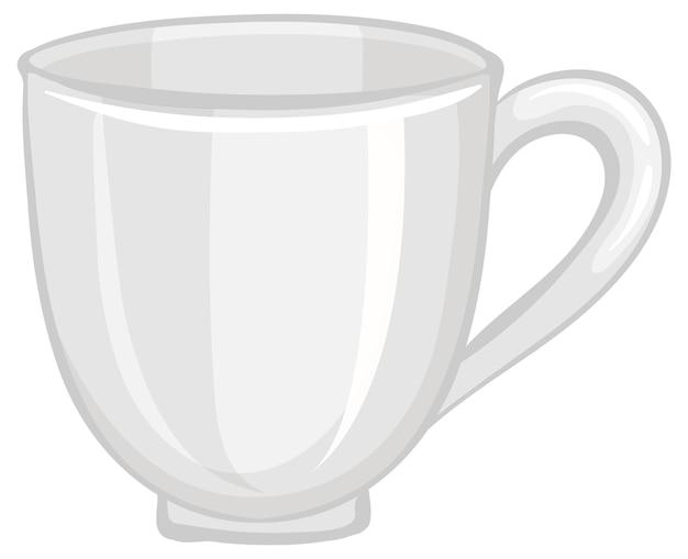 Una taza de té vacía aislado sobre fondo blanco.