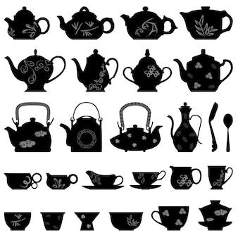 Taza de tetera de té chino japonés asiático oriental.