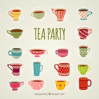 Tazas de una fiesta de té