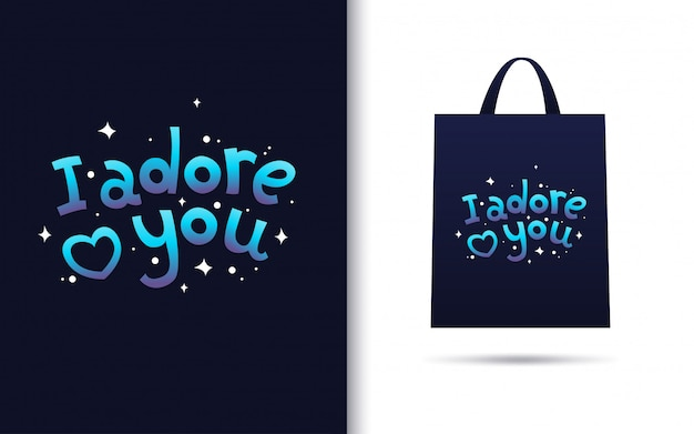 Te adoro letras con merchandising