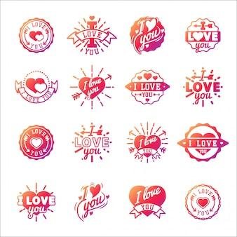 Te amo insignias