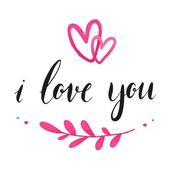 Te amo tipografia vector