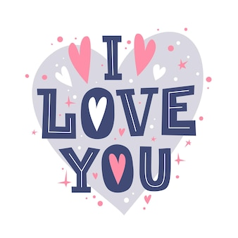 Te quiero. feliz día de san valentín cita romántica.