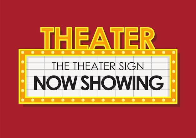 Teatro brillante cartel de cine retro