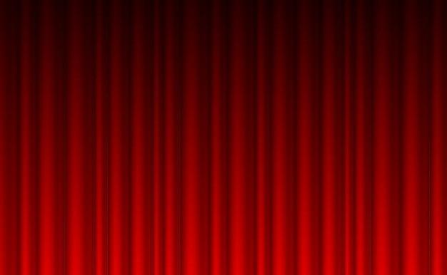 Teatro cortina roja de fondo