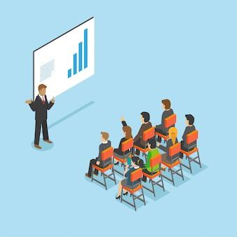 Teatro isométrico - configuración de reunión de forma