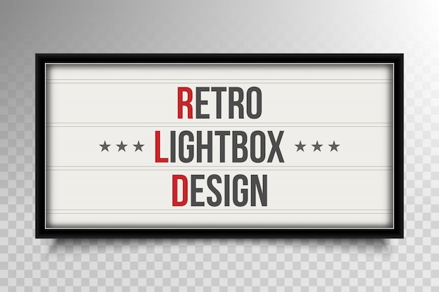 Teatro retro caja de luz.