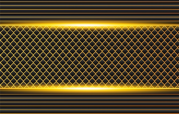 Tech fondo negro con contraste naranja rayas amarillas. diseño de folleto gráfico vectorial abstracto