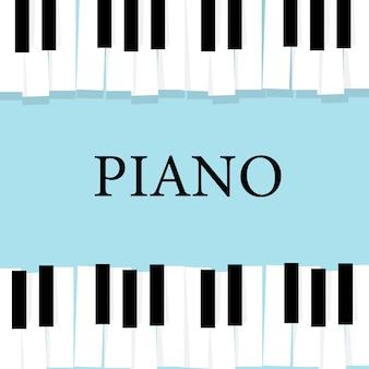 Teclado de piano de música