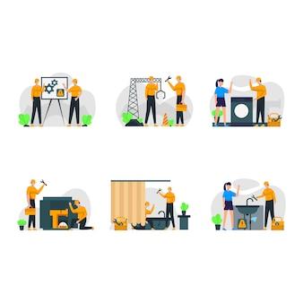 Técnicos reparan daños a bienes y maquinaria