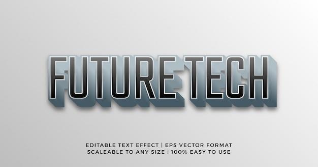 Tecnología 3d digital efecto de texto cibernético