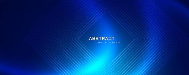 Tecnología abstracta azul malla y líneas de fondo
