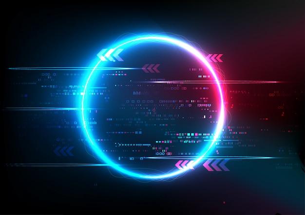 Tecnología abstracta azul rosa digital